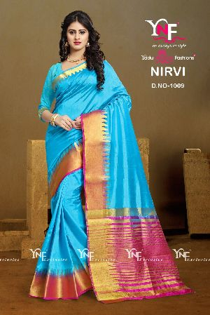 Nirvi 1009 Cotton Silk Saree