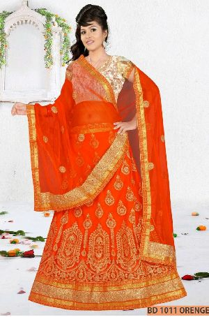 Orange Collection Bridal Lehenga Choli
