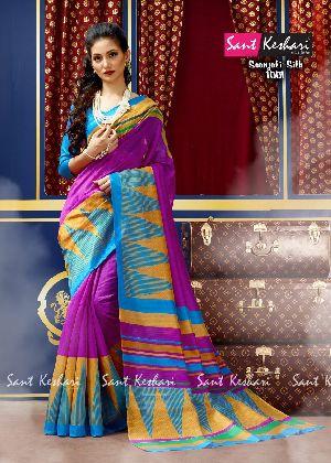 Saanjali 1001 Bhagalpuri Silk Saree