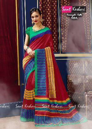 Saanjali 1002 Bhagalpuri Silk Saree
