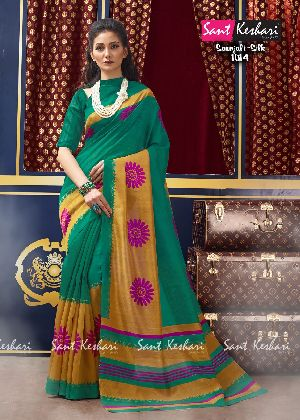 Saanjali 1003 Bhagalpuri Silk Saree