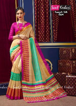 Saanjali 1004 Bhagalpuri Silk Saree