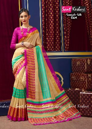 Saanjali 1004 Faux Georgette Saree