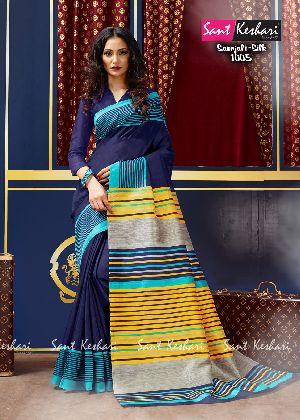 Saanjali 1005 Bhagalpuri Silk Saree