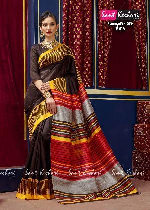 Saanjali 1006 Bhagalpuri Silk Saree