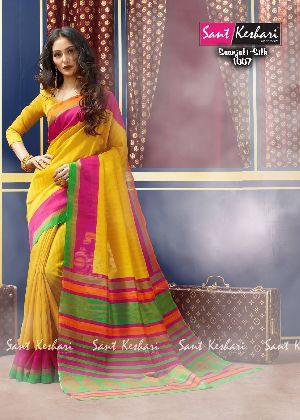 Saanjali 1007 Bhagalpuri Silk Saree