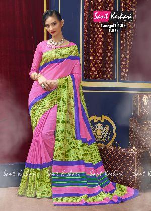 Saanjali 1009 Bhagalpuri Silk Saree