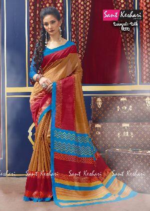 Saanjali 1010 Bhagalpuri Silk Saree