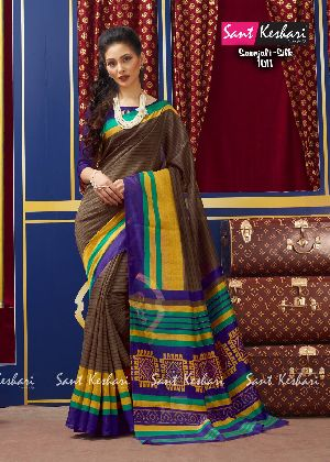 Saanjali 1011 Bhagalpuri Silk Saree