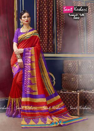 Saanjali 1012 Bhagalpuri Silk Saree