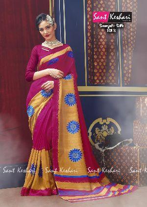 Saanjali 1013 Bhagalpuri Silk Saree