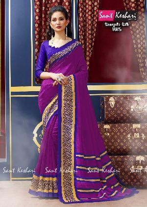 Saanjali 1015 Bhagalpuri Silk Saree