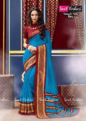 Saanjali 1016 Bhagalpuri Silk Saree