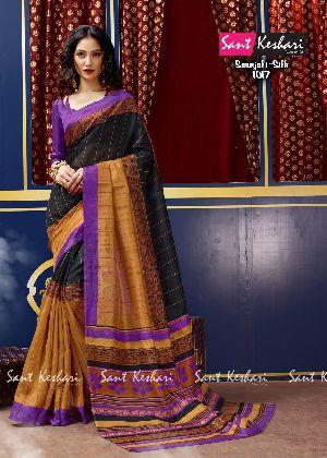 Saanjali 1017 Bhagalpuri Silk Saree