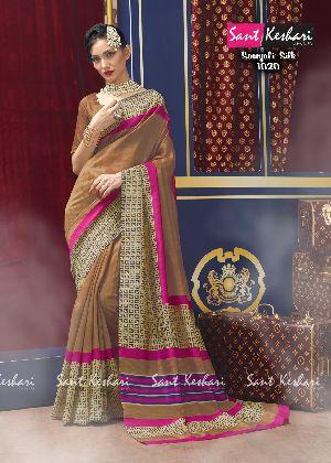 Saanjali 1020 Bhagalpuri Silk Saree