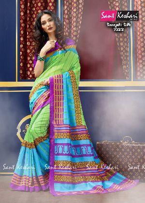 Saanjali 1022 Bhagalpuri Silk Saree