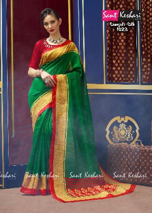 Saanjali 1023 Bhagalpuri Silk Saree