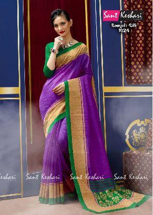 Saanjali 1024 Bhagalpuri Silk Saree