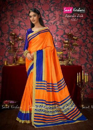 Saasha 1001 Bright Khadi Saree