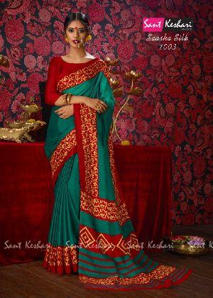 Saasha 1003 Bright Khadi Saree