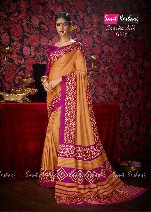 Saasha 1004 Bright Khadi Saree