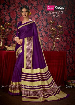 Saasha 1005 Bright Khadi Saree