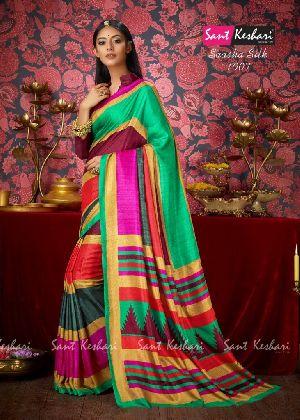 Saasha 1007 Bright Khadi Saree