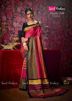 Saasha 1015 Bright Khadi Saree