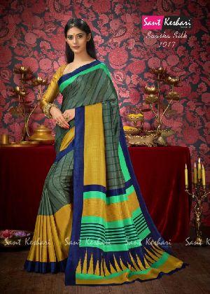 Saasha 1017 Bright Khadi Saree