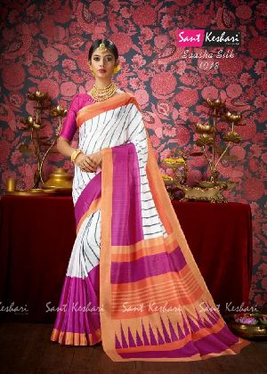 Saasha 1018 Bright Khadi Saree