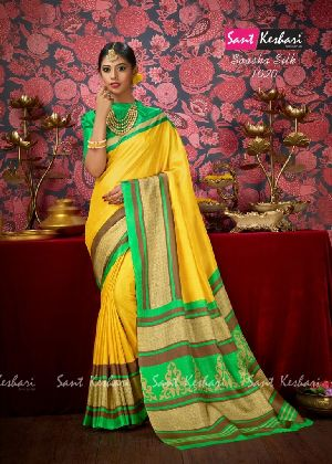 Saasha 1020 Bright Khadi Saree