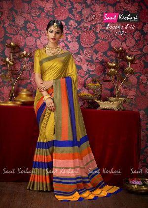 Saasha 1021 Bright Khadi Saree