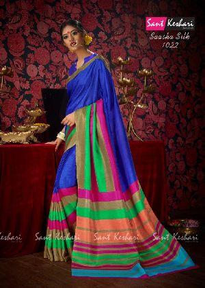 Saasha 1022 Bright Khadi Saree