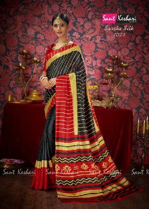 Saasha 1023 Bright Khadi Saree