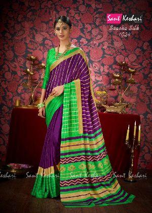 Saasha 1024 Bright Khadi Saree