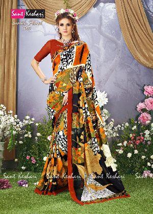 Sarika Floral 1005 Faux Georgette Saree