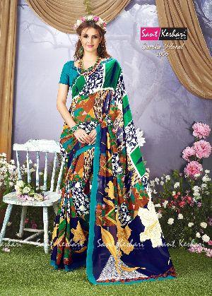 Sarika Floral 1006 Faux Georgette Saree