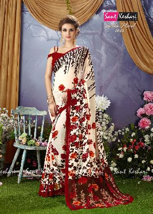 Sarika Floral 1010 Faux Georgette Saree