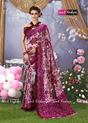 Sarika Floral 1015 Faux Georgette Saree