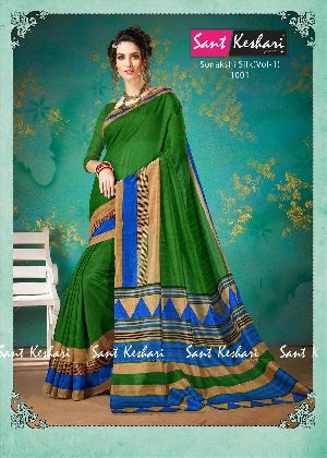 Sonakshi 1001 Bhagalpuri Cotton Saree