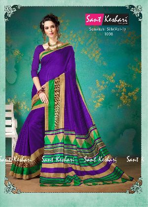 Sonakshi 1008 Bhagalpuri Cotton Saree