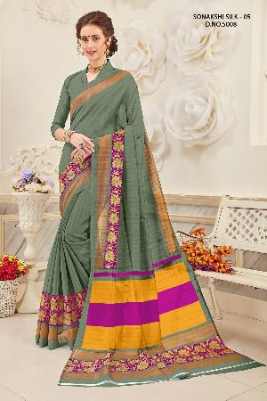 Sonakshi 5008 Bhagalpuri Cotton Saree