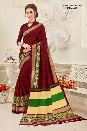 Sonakshi 5009 Bhagalpuri Cotton Saree