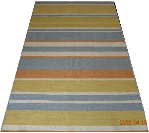 Wool Handloom Strip Durries