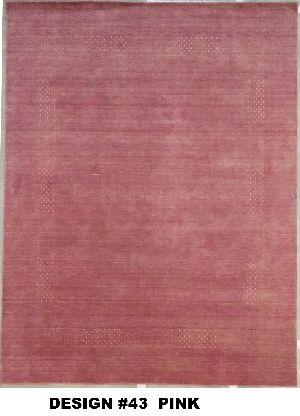 43 Pink 100% Wool Handloom Lori
