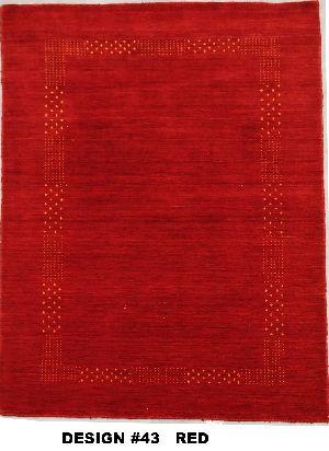 43 Red 100% Wool Handloom Lori