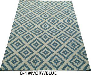 B-4 100% Wool Hand Woven Durries