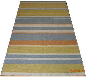 DSC02326 100% Wool Handloom Strip Durries