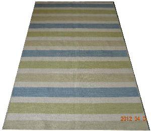 DSC02333 100% Wool Handloom Strip Durries