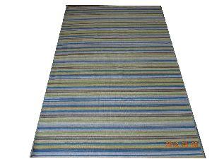 DSC02338 100% Wool Handloom Strip Durries